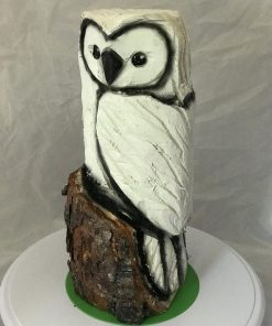 1ft White Owl Chainsaw Carving