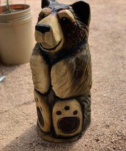 Sitting Bear Wood Carving