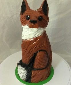 Small Fox Chanisaw Carving